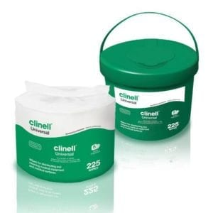 Universal Wipes Case of 4 Buckets of 225