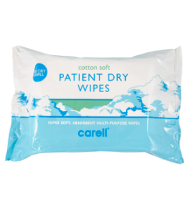 Carell Dry Wipes Cotton Soft Case of 24 Packs of 100
